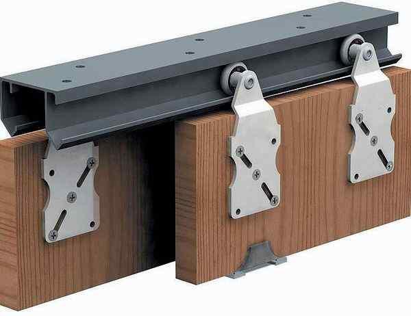 Верхнеопорная система направляющих для шкафов купе эконом, фото