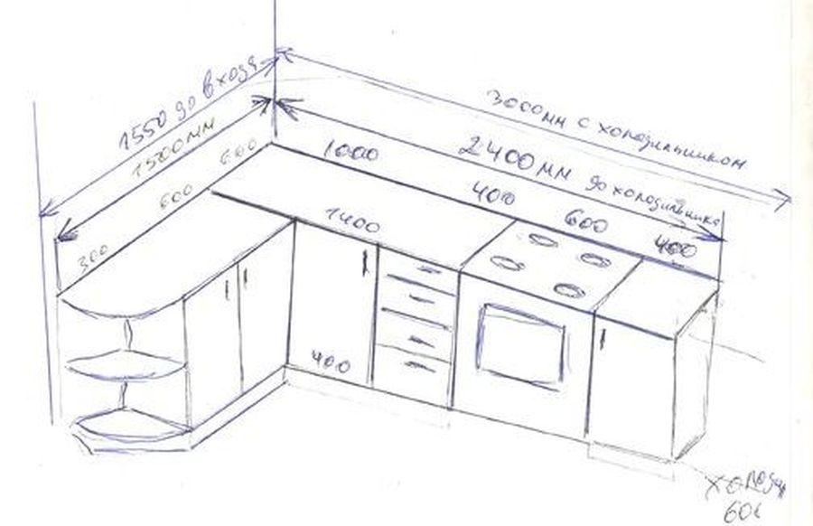 Проектирование нижних кухонных столов