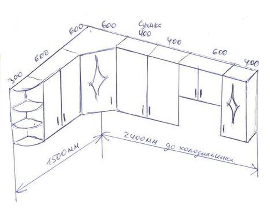 Самостоятельное проектирование верхних навесных шкафов