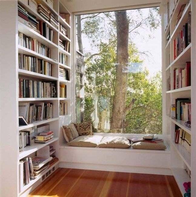 Фото организации места для обеденного отдыха в кабинете или библиотеке