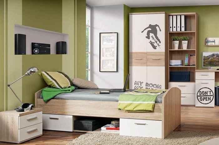 Детская мебель с выдвижными ящиками и полками, фото