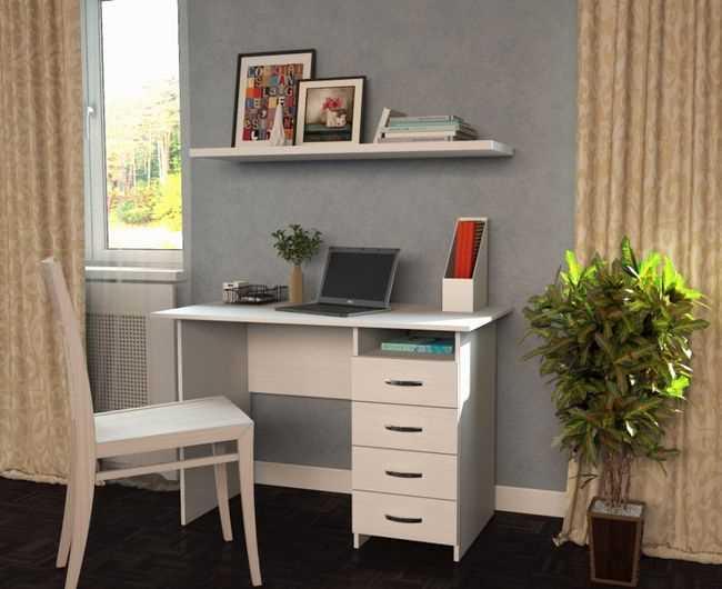 Письменный стол Милан 1 в интерьере детской комнаты, фото