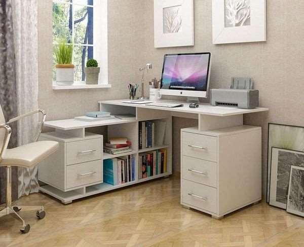 Угловой письменный стол Барди 3 в интерьере детской комнаты, фото
